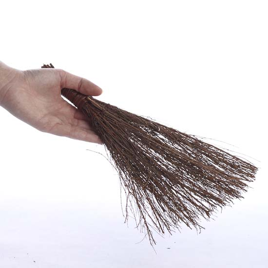 Natural pine broom hanger straw brooms fall and for Straw brooms for crafts