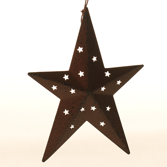 Red Star Wall Decor : Barn red tin dimensional star wall decor home