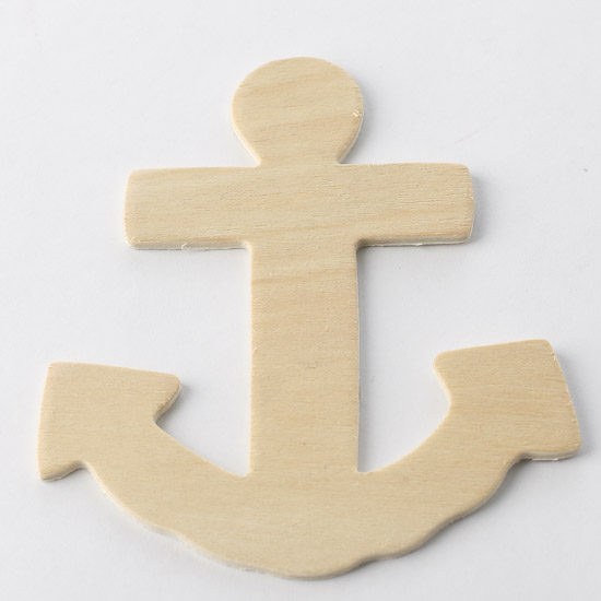 Unfinished wood anchor cutout wood cutouts unfinished for Unfinished wood pieces for crafts