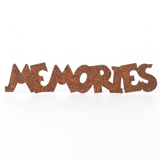 "Rusty Tin ""Memories"" Word Cutout - Scrapbooking - Craft ..."