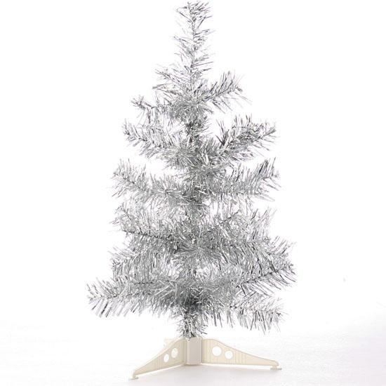 Tinsel Christmas Tree: Retro Silver Tinsel Christmas Tree