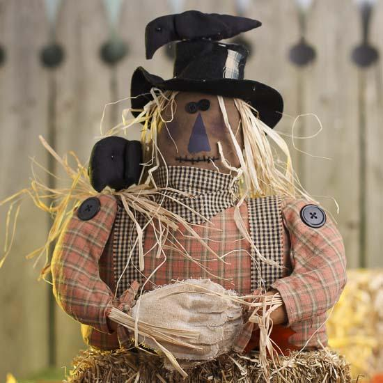 Whimsical Primitive Scarecrow Fall And Halloween
