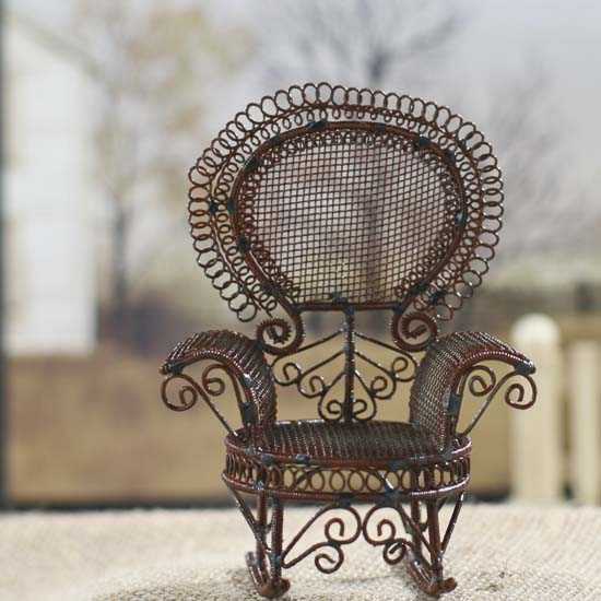 Miniature Victorian Garden Rocking Chair - Fairy Garden Miniatures ...
