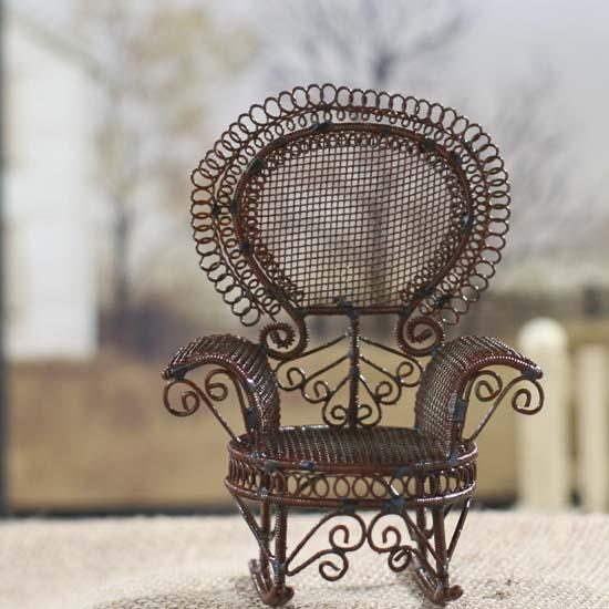 Sensational Miniature Victorian Garden Rocking Chair Caraccident5 Cool Chair Designs And Ideas Caraccident5Info