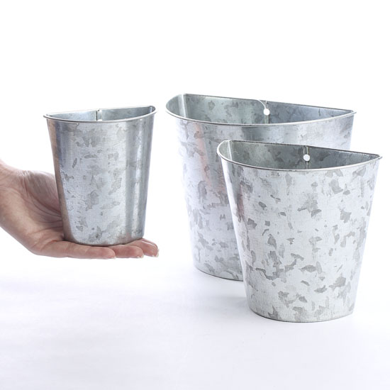 galvanized tin wall pockets - baskets, buckets, & boxes - home decor