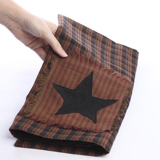 Primitive Star Patchwork Dish Towel Kitchen Towels
