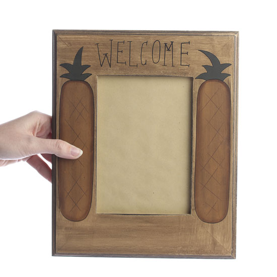 "Primitive ""Welcome"" Pineapple Picture Frame"