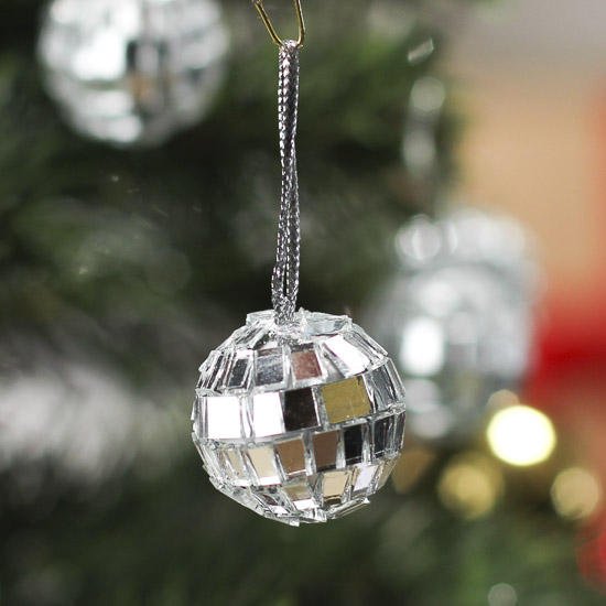 Disco Ball Decoration Best Miniature Mirrored Mosaic Disco Ball Ornaments  Christmas Decorating Design