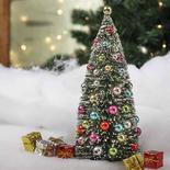 Frosted Bottle Brush Christmas Tree