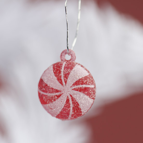 click here for a larger view - Peppermint Candy Christmas Ornaments