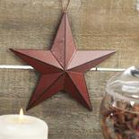 Rustic Red Dimensional Barn Star