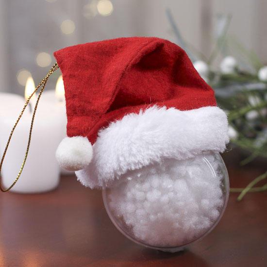 Small Fleece Santa Hat Ornament Doll Hats Doll Making