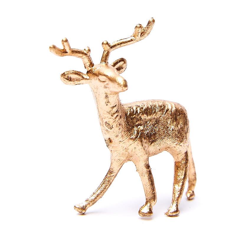 Miniature Gold Metallic Deer Ornaments - Christmas ...