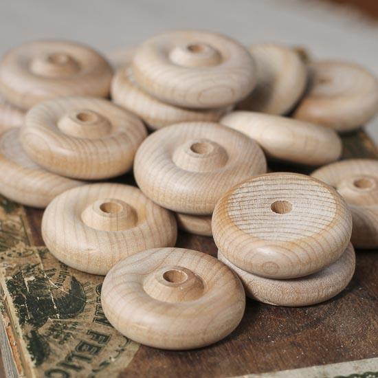 Wooden Toy Parts Catalog : Unfinished wooden toy wheels