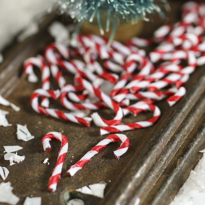 Christmas Candy Cane.Miniature Candy Canes
