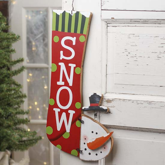 Christmas Wall Decor Images : Quot snow snowman stocking wall decor signs ornaments