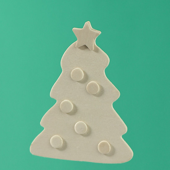 Unfinished Wood Layered Christmas Tree Cutout Wood