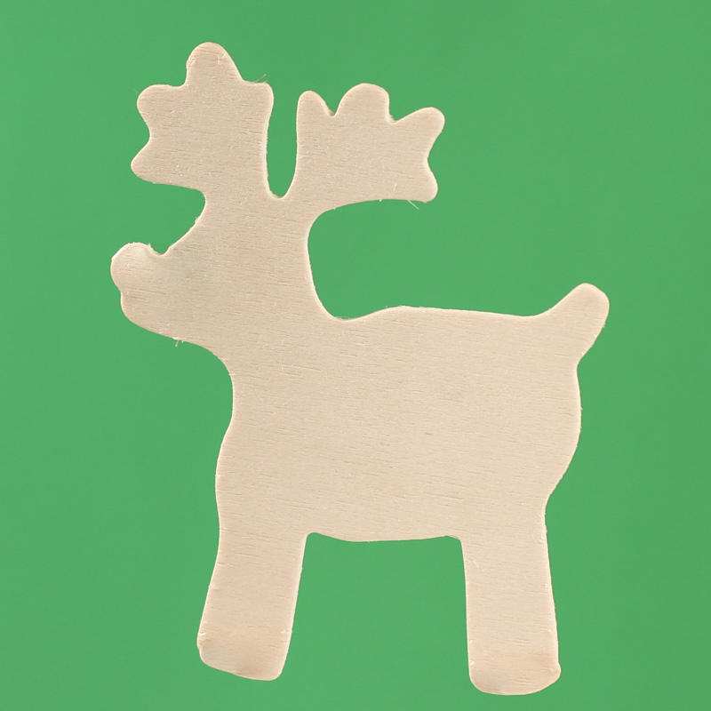 Unfinished Wood 3d Reindeer Cutout Wood Cutouts Wood