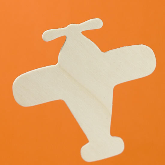 Unfinished wood airplane cutout wood cutouts wood for Airplane cut out template