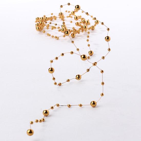 metallic tangerine orange beaded wire garland pearl