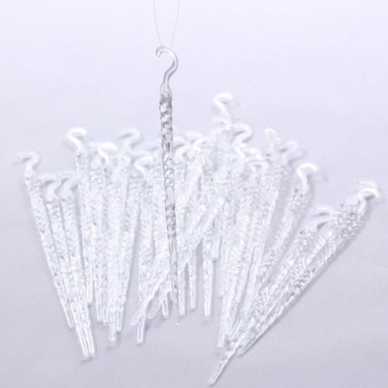 crystal clear acrylic icicle ornaments christmas ornaments christmas and winter holiday crafts - Icicle Christmas Decorations