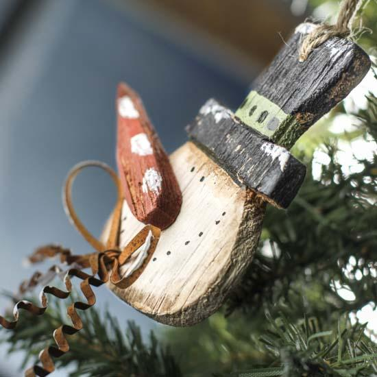 Primitive Rustic Snowman Ornament Christmas And Holiday