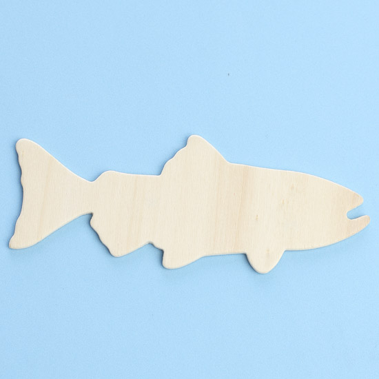 unfinished wood trout fish cutout wood cutouts