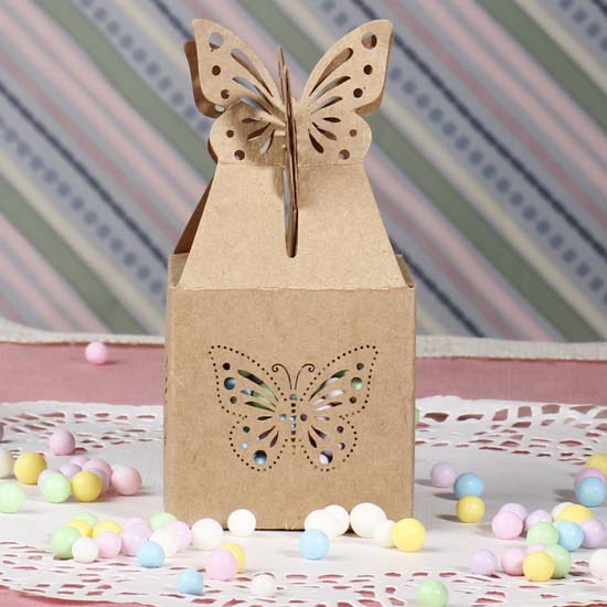 Butterfly Themed Favor Boxes : David tutera butterfly favor boxes gift bags
