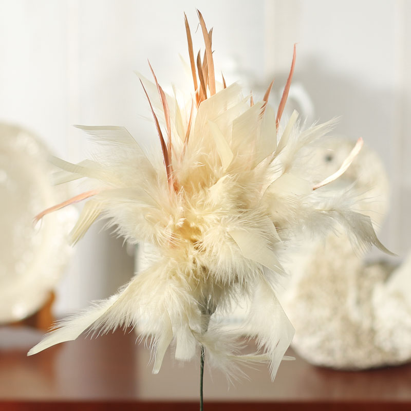 Natural feather flower stem feathers boas basic for Natural feathers for crafts