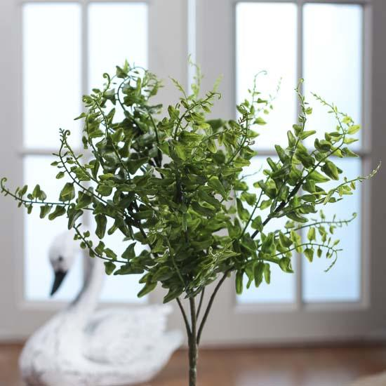 Artificial greenery bush floral