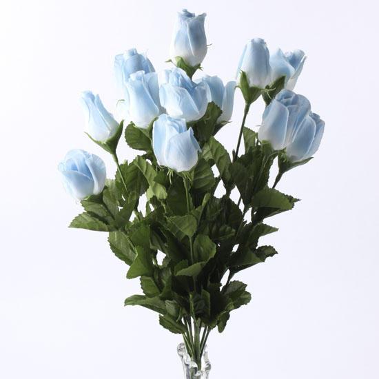 Light Blue Artificial Rose Bud Bush Floral Sale Sales