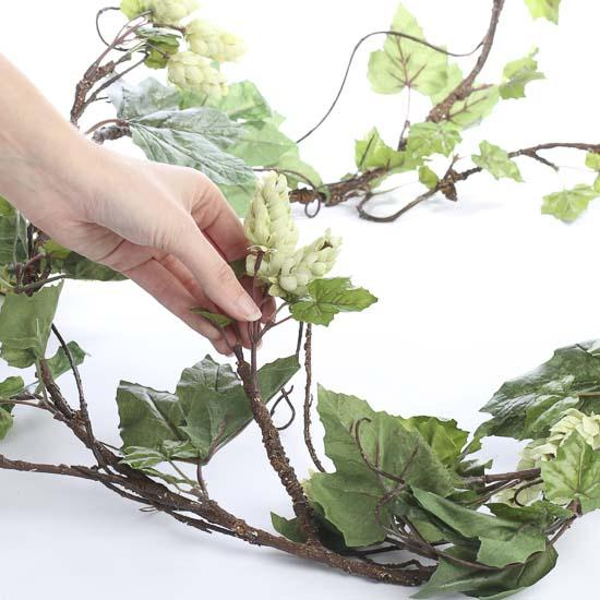 Trailing artificial hops garland artificial greenery for Artificial hops decoration
