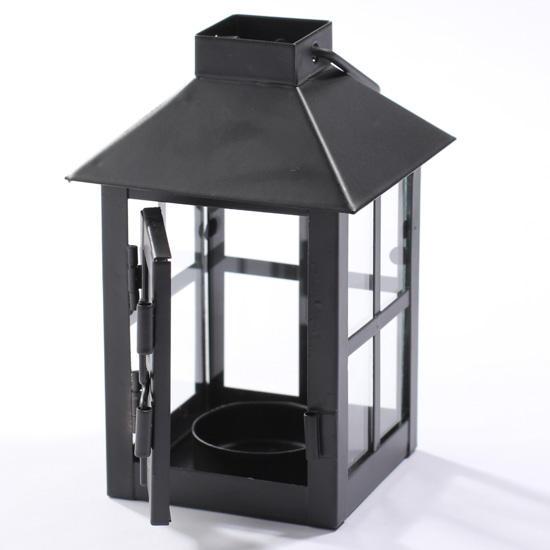 Black Metal Tea Light Lantern Candles And Accessories