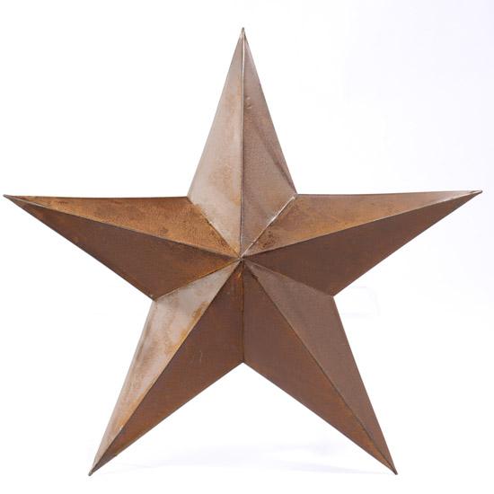 Primitive Rusty Tin Barn Star
