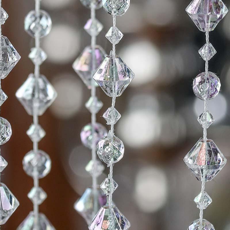 Iridescent Acrylic Crystal Garland Pearl Spools Bead