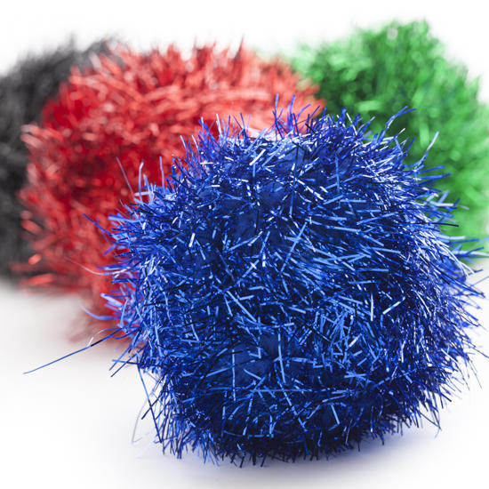 Large multicolor tinsel craft pom poms craft pom poms for Pom pom crafts