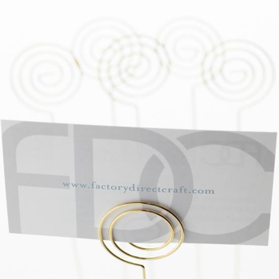 David Tutera Gold Wire Swirl Placecard Holders