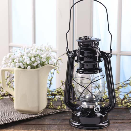 Black real working railroad lantern western theme