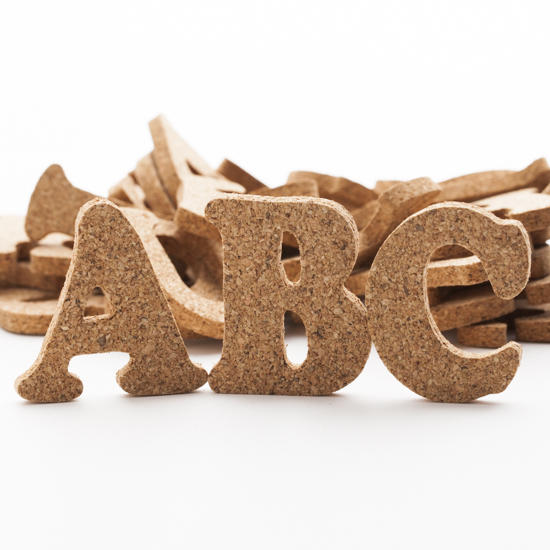 Cork Alphabet Letters Word And Letter Cutouts Unfinished Wood Craft Supplies