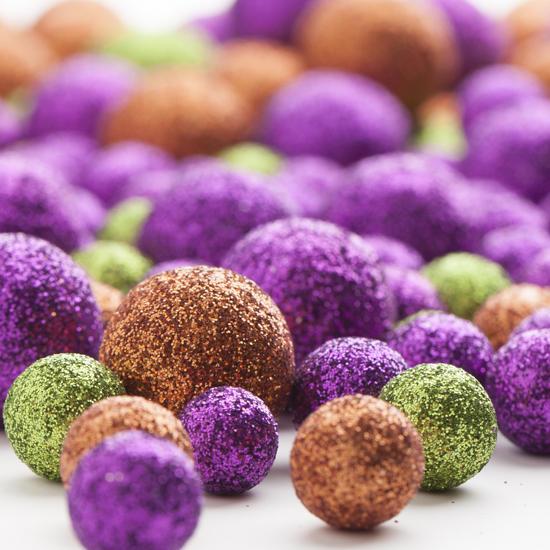 Assorted Halloween Glitter Balls Vase Fillers Table