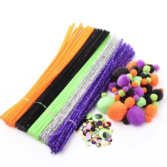 Halloween Pom Pom And Pipe Cleaner Kit