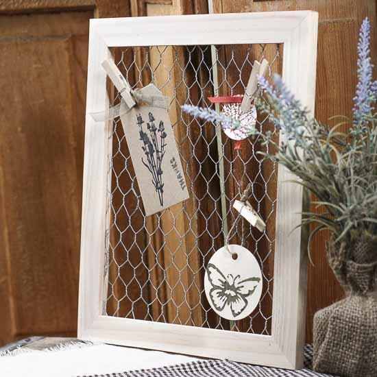 Chicken Wire Display Frame Wall Art Primitive Decor