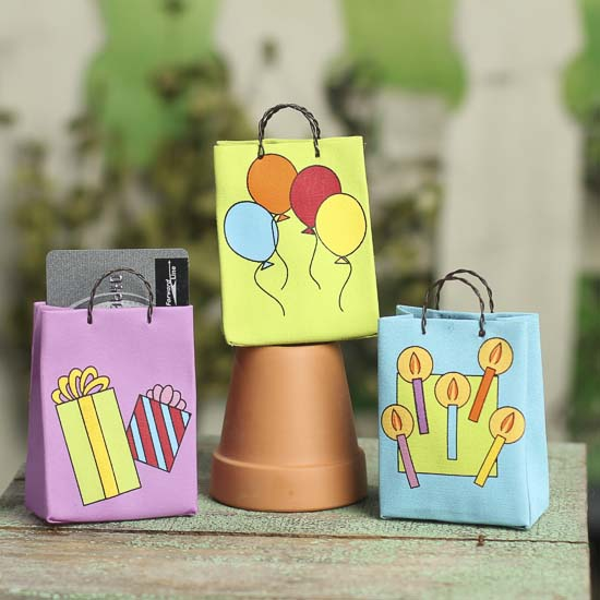 Tiny Birthday Gift Card Holder Bag Gift Bags Favor Bags Party