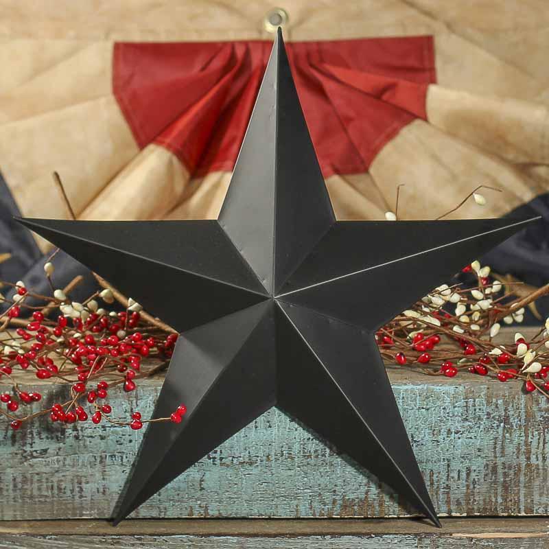 """15"""" Primitive Black Tin Barn Star - Barn Stars - Primitive ..."""