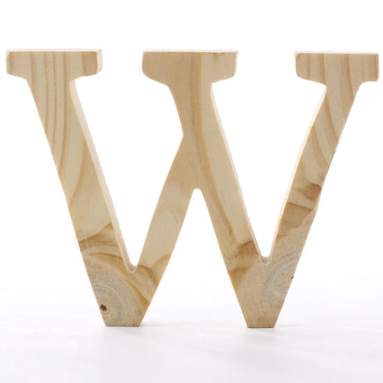 Standing wooden letter w word and letter cutouts for Wooden craft supplies online