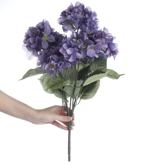 Purple Artificial Hydrangea Bush Bushes And Bouquets