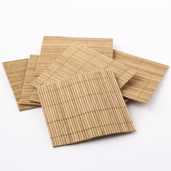 Eco friendly bamboo coasters on sale party special for Crafts using bamboo