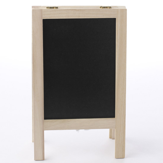 Small Reversible Chalkboard Whiteboard Easel Mini