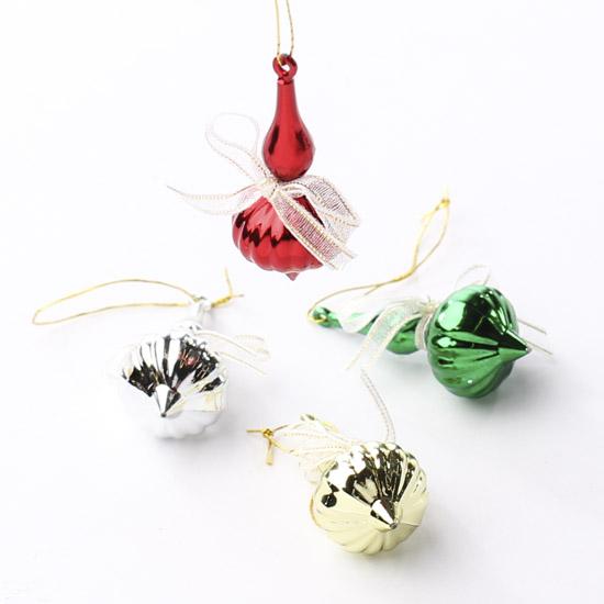 Miniature onion drop christmas ornaments
