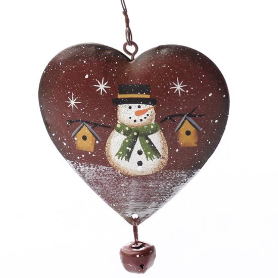 snowman heart ornament - signs  u0026 ornaments